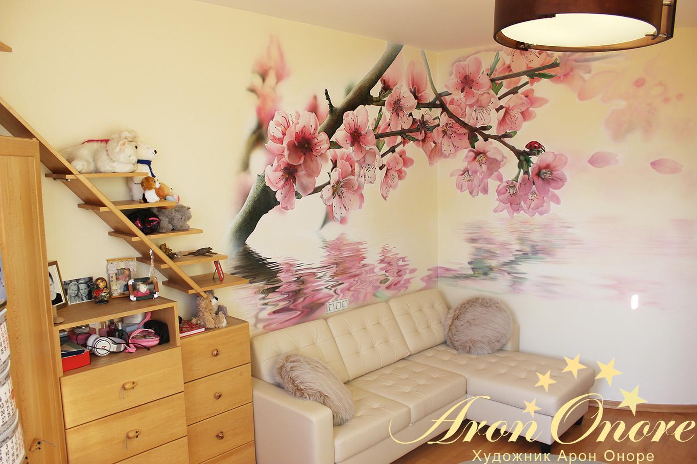 Фото рисунков на стенах в квартире своими руками
