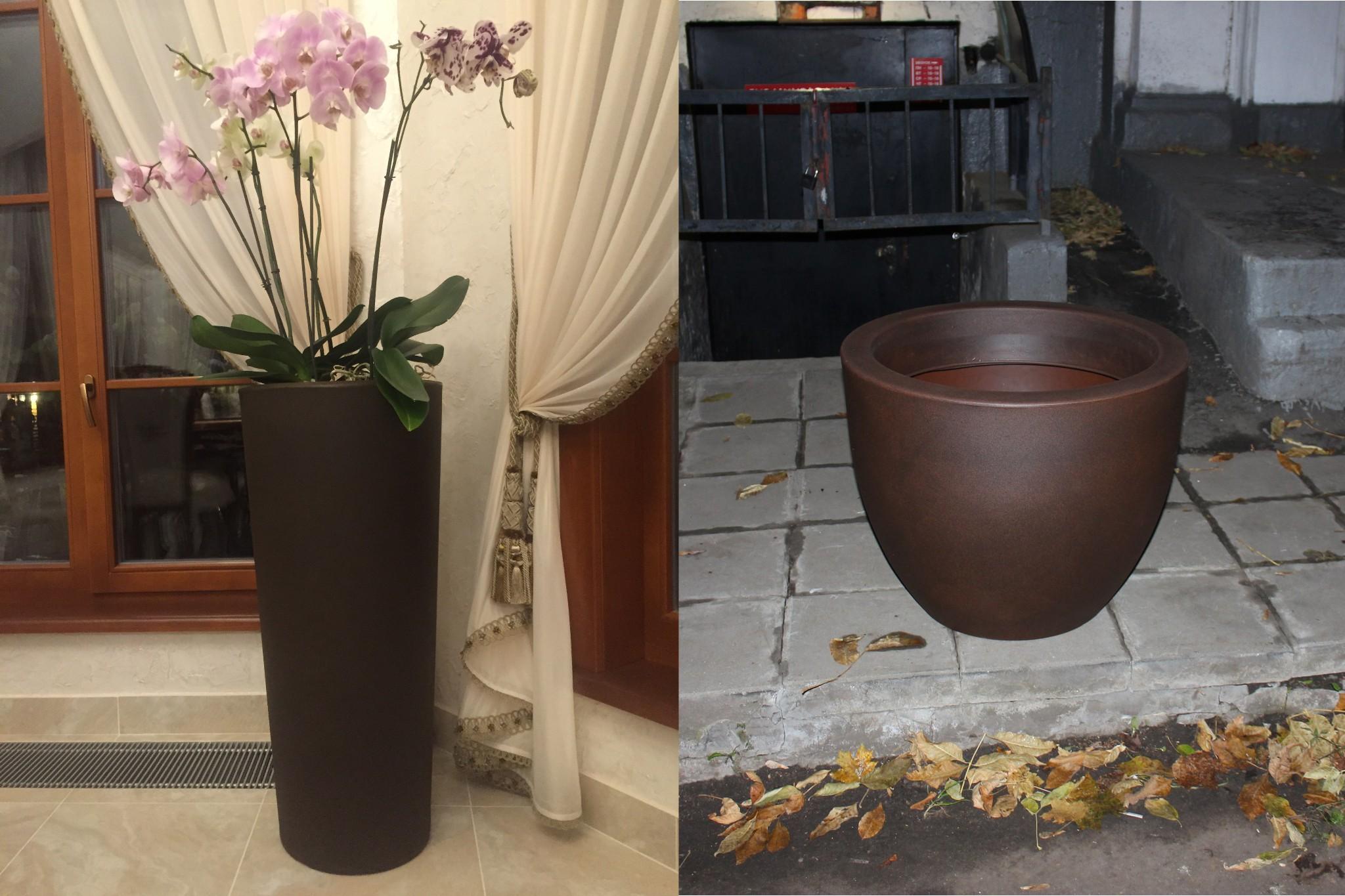 декорирование ваз с помощью гибкой лепнины Pearlworks c золочением