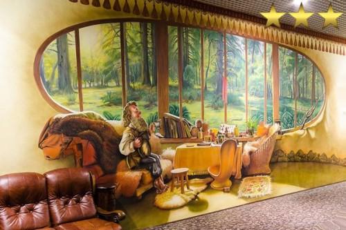 Аэрография на стенах в детской party-room в Парке Горького