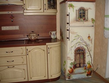 Аэрография на холодильниках