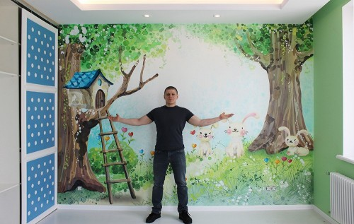 Авторская роспись стен