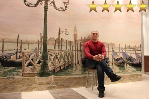 Роспись стен интерьера кухни «Причал Венеции»