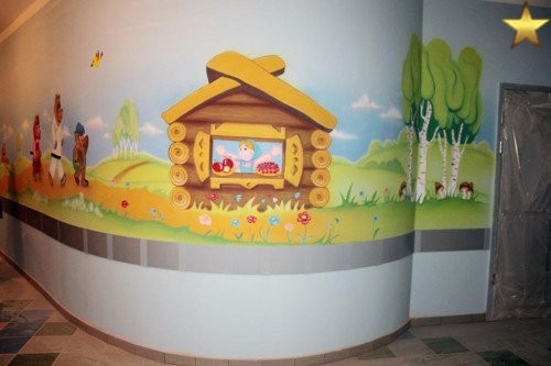 Рисунки в детской больнице Белгорода