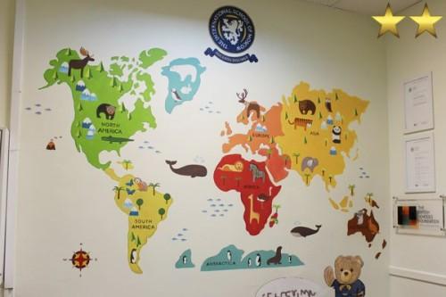 Художественное оформление стен в школе английского языка