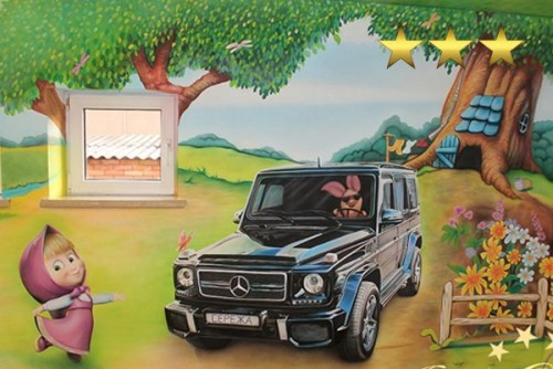 Роспись детской комнаты «Гелендваген»