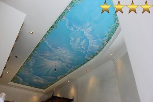 «Голубое небо» – роспись потолка.