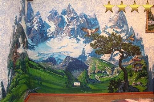 Роспись стен в квартире: Горный пейзаж