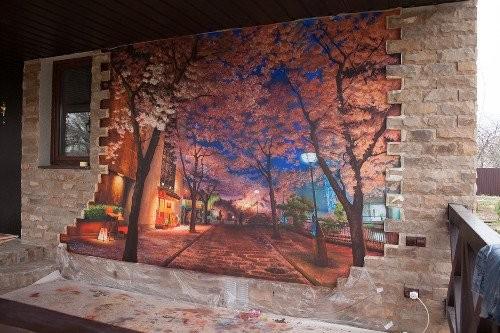 Роспись стен фасадов