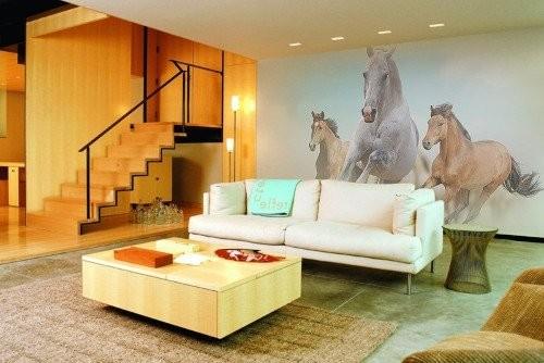 Идеи росписи стен гостиной