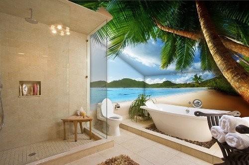 Идеи росписи стен в ванной комнате от Арона Оноре