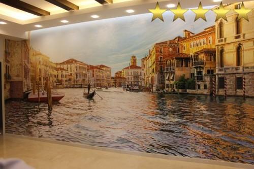 Картина венеция. Роспись стен в частном доме.