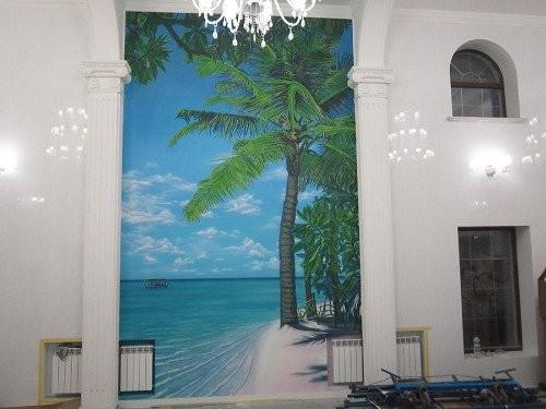 Роспись стен на тему: джунгли и море