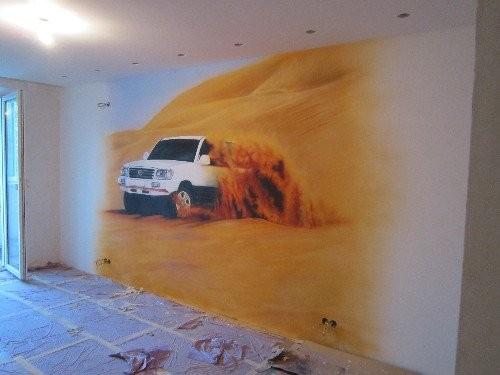 Роспись стен в квартире и рисунки