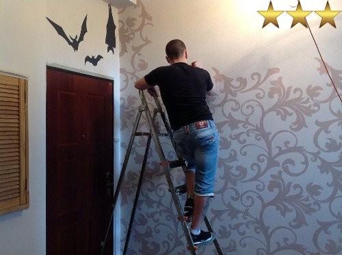 Рисунки на стенах в подъезде (г. Москва): узоры