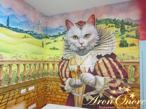 Рисунки животных на стене