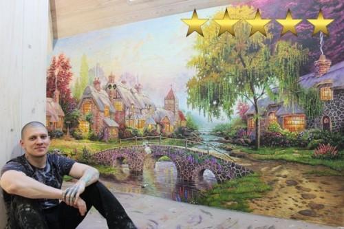 Рисунок дома. Репродукция художника Томаса Кинкейда