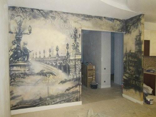 Роспись или декор стен холлов и залов