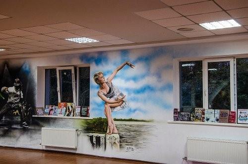 Роспись стен в комнате подростка