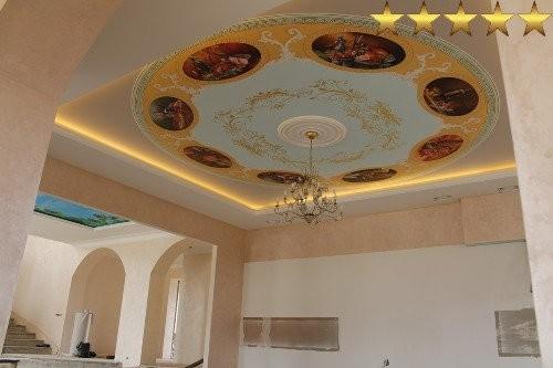 Натюрморт на потолке частного дома в Москве