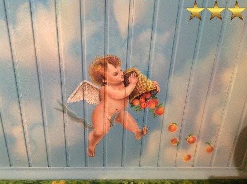 Художественная роспись потолка «Небо и ангелы»
