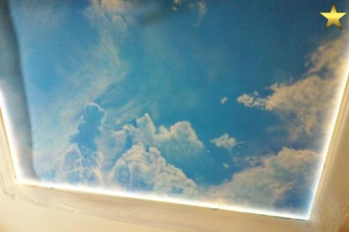 Роспись потолка небо с облаками