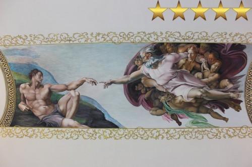 Роспись потолка в классическом стиле «Сотворение Адама»