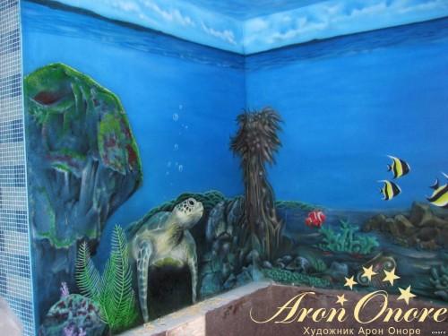 Роспись стен на морскую тематику