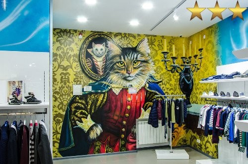 Роспись стен в магазине детской одежды Queen's kids