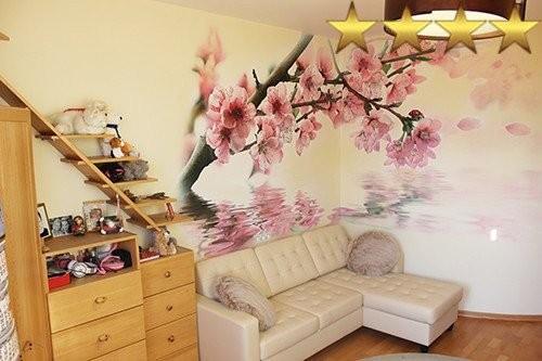 Роспись стен в спальне «Сакура»