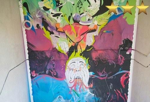 Роспись стен в фотостудии United Art Hall, художник Aron Оnore