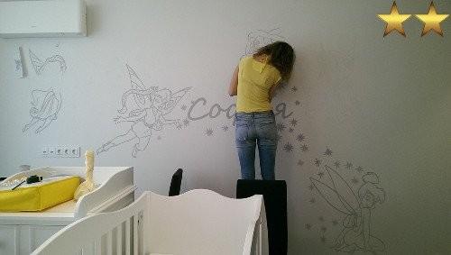 Роспись стен в детской комнате (Москва): феи