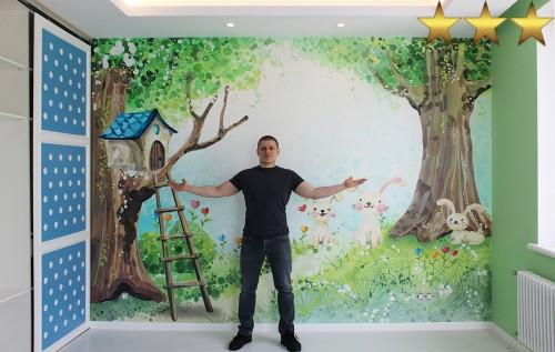 Роспись детской комнаты «Сказочный лес»
