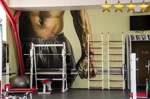 Роспись стен в спорт клубе ГТО