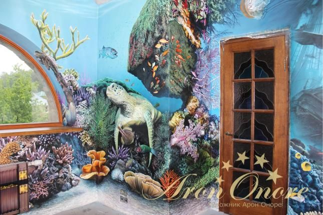 Роспись стен в морском стиле