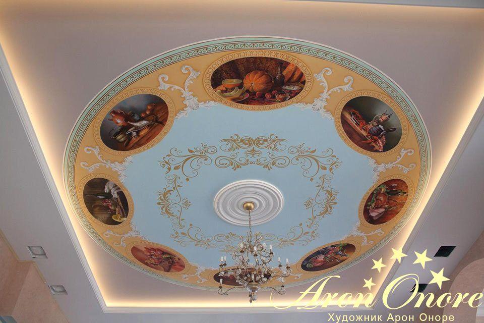 Натюрморт роспись потолка