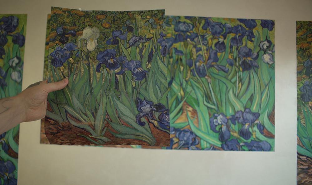 Роспись на стене Ван Гог Ирисы