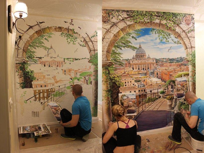 С чего начать роспись стен