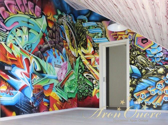 Граффити на стене Дикий стиль