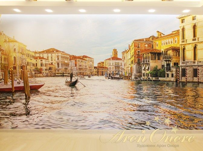 3D-картинка на стене с изображением моря, Венеция