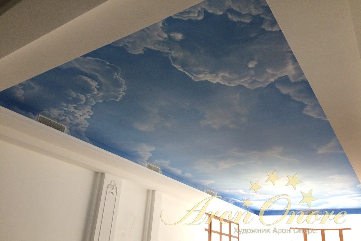 потолок небо с облаками Арон Оноре