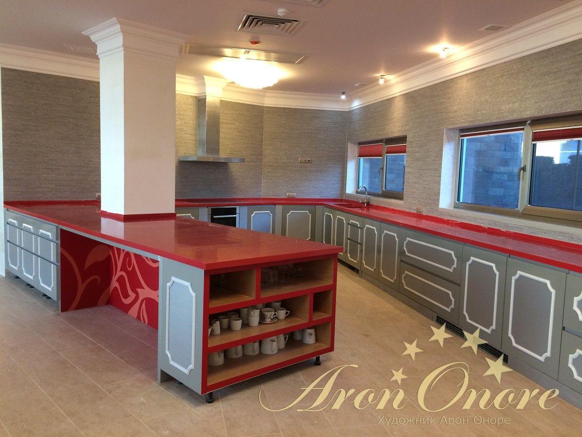 роспись мебели кухни