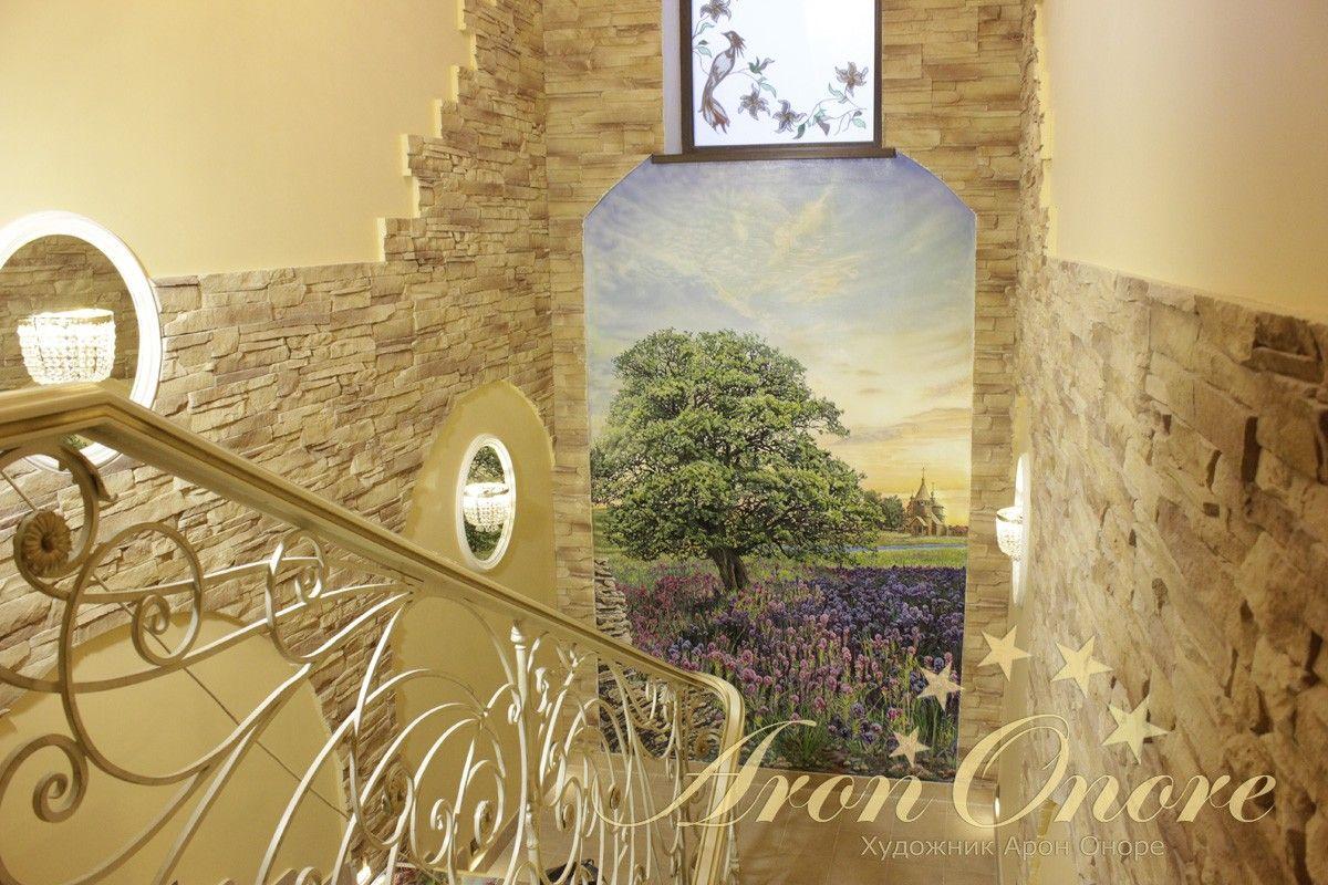 дерево роспись стен