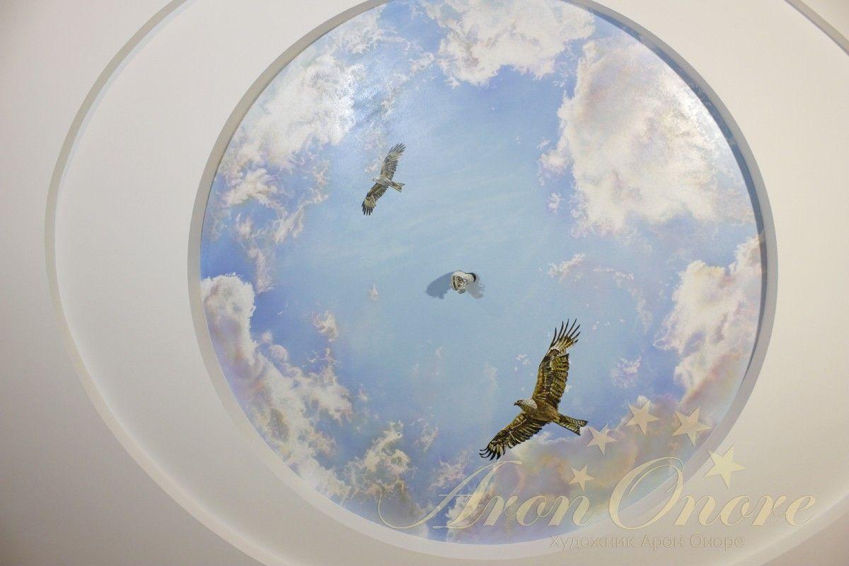 Небо роспись на потолке