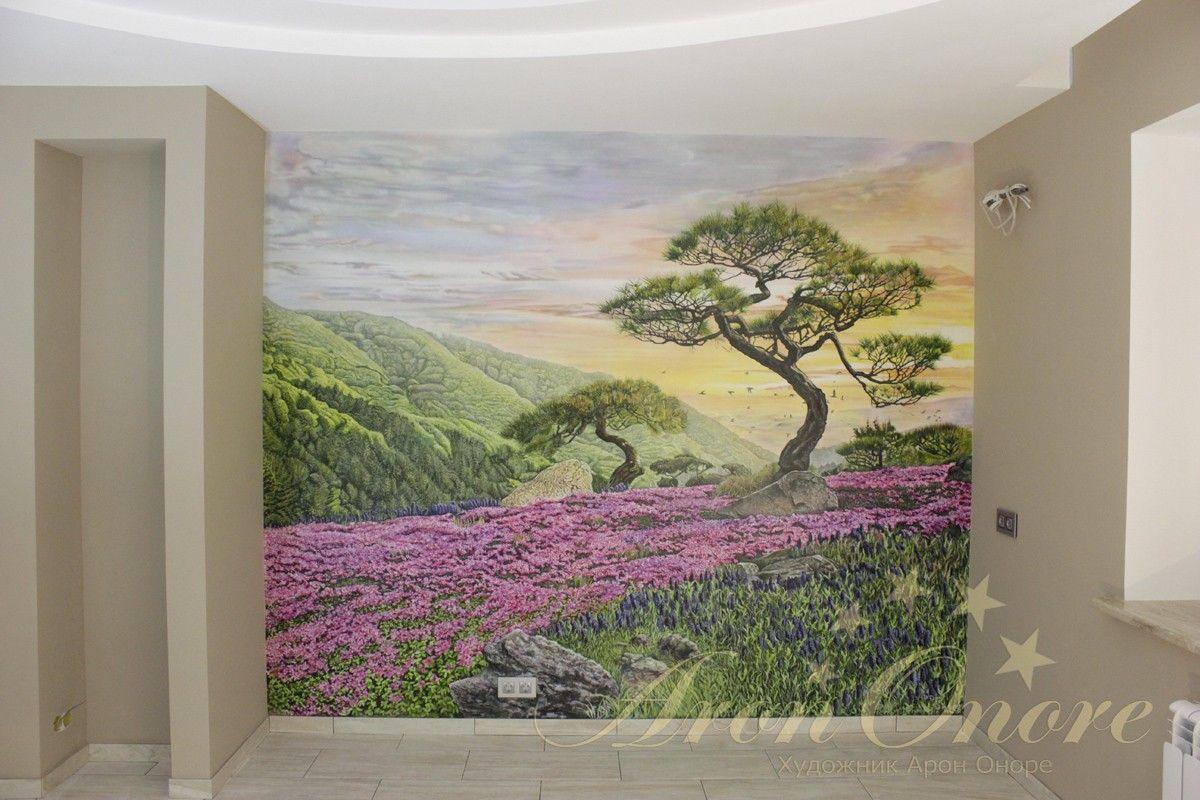 роспись на стене на кухне