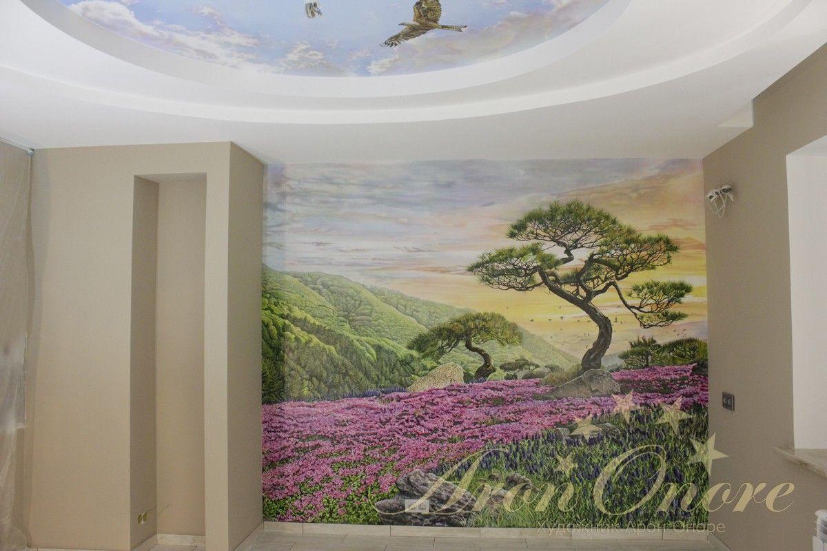 роспись стен и потолков пейзаж