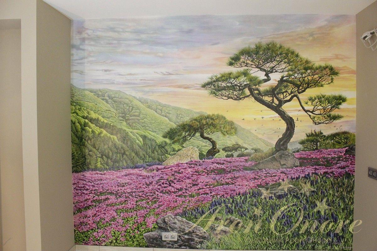 роспись стен пейзажи
