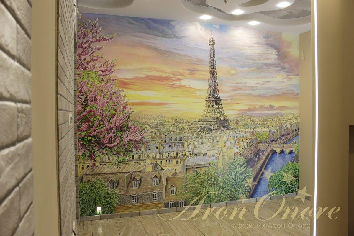 пейзаж рисунок на стене франция