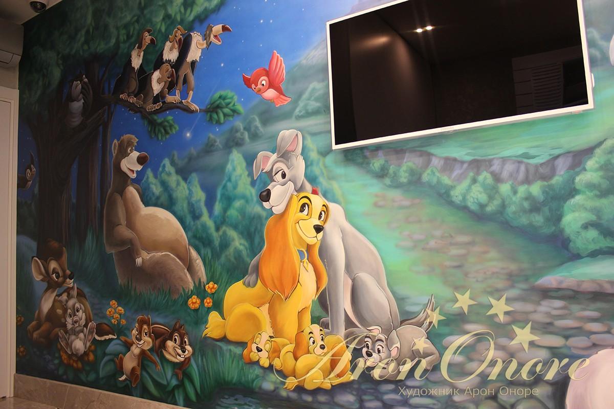 роспись в детской комнате мультфильм дисней