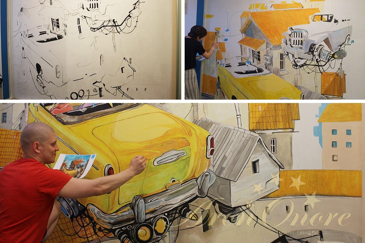 Процесс рисования детской комнаты