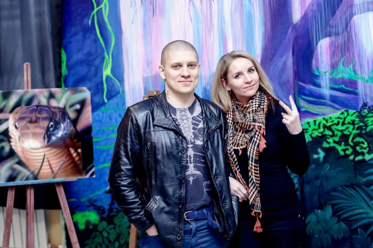 Валентина художник и Арон Оноре